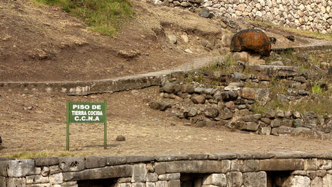 Traditional Inca wall Stock Video Footage