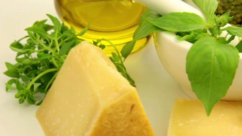 Italian pesto sauce Stock Video Footage