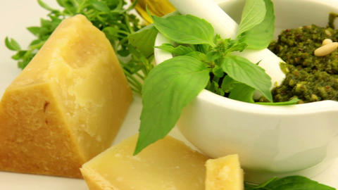 Italian Pesto Sauce stock footage