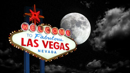 Las Vegas Moon Time Lapse Stock Video Footage
