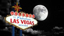 Las Vegas Moon Time Lapse Stock Video Footage