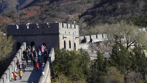Great wall,China ancient architecture Stock Video Footage
