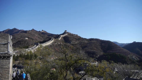 Great wall,China ancient defense engineering Footage