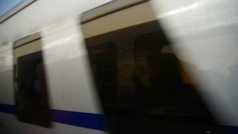 fast speeding train Stock Video Footage