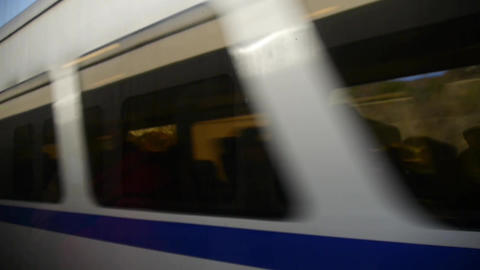 Fast Speeding Train.  stock footage