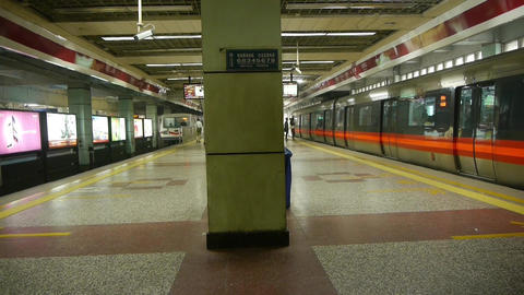 Beijing subway station,people crowd waiting for train in shelters hall Footage