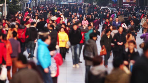 Busy Crowds Traffic Stock Video Footage