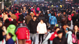 Time Lapse of Busy Crowds Traffic Stock Video Footage