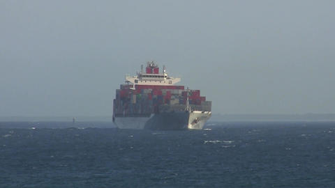 Container Ship 020 Stock Video Footage