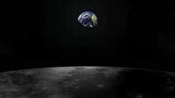 Earth From Moon stock footage