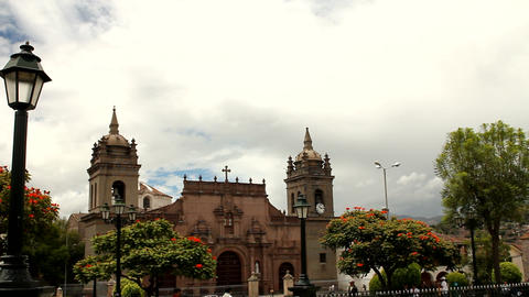 Cathedral of Ayacucho Stock Video Footage