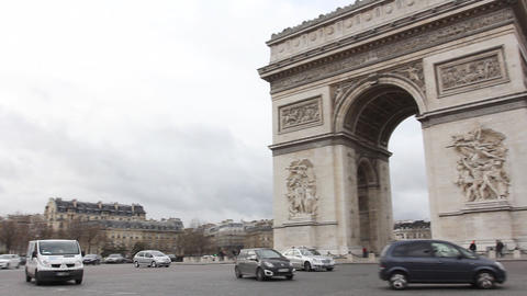 Triumph Arch, Paris stock footage