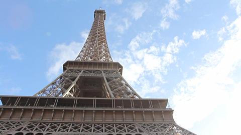 Eiffel Tower in Paris Stock Video Footage