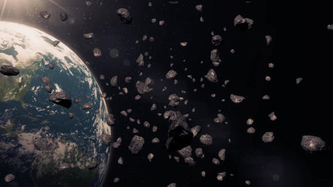 asteroids Stock Video Footage