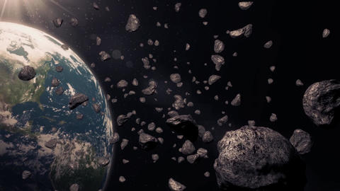 Asteroids stock footage