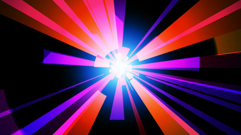 color bright tunnel Stock Video Footage