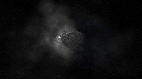 asteroid2 Stock Video Footage