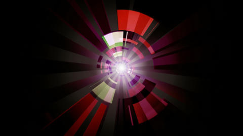 digital time tunnel Animation