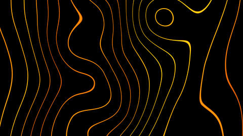 abstract gold lines with alpha Stock Video Footage