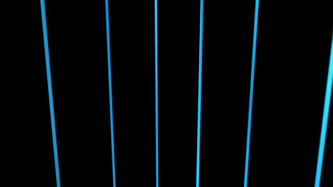 3d blue line rotation with alpha Stock Video Footage
