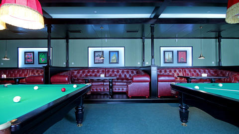 Club For A Game Of Billiards Stock Video Footage