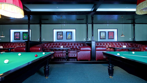Club For A Game Of Billiards Footage
