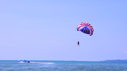 Parasail Takeoff Stock Video Footage
