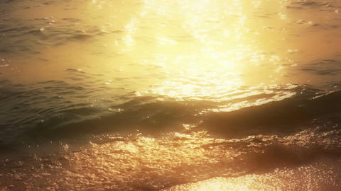 Romantic Waves at Sunset Stock Video Footage