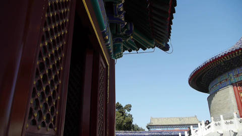Temple in Beijing.China's royal ancient architecture Footage