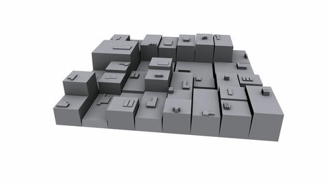 3d city,rotate square,goods warehousing & business... Stock Video Footage