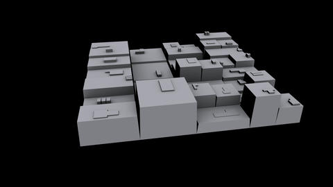 3d city,rotate square,goods warehousing & business logistics Animation