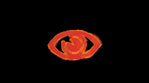 eye sign,fire Stock Video Footage