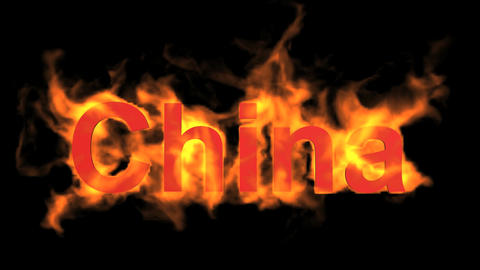 flame china word Stock Video Footage