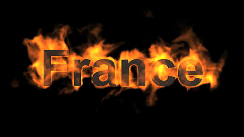 flame France word Stock Video Footage