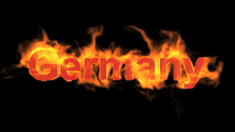 flame Germany word Stock Video Footage
