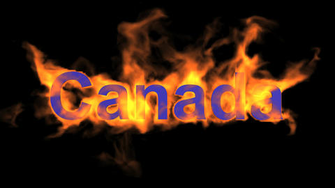 flame Canada word Stock Video Footage