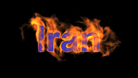 flame Iran word Stock Video Footage