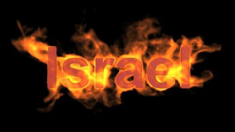flame Israel word Stock Video Footage