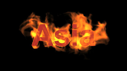 flame Asia word Animation