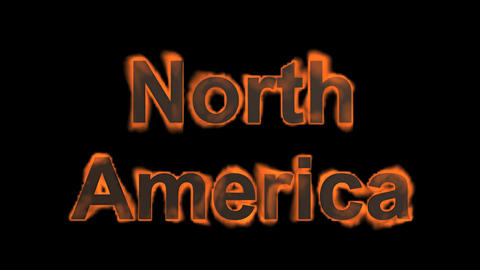 flame North America word Stock Video Footage