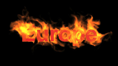 flame Europe word Animation