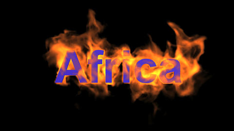 flame Africa word Animation