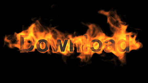 flame download word Animation