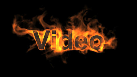 flame video word Stock Video Footage