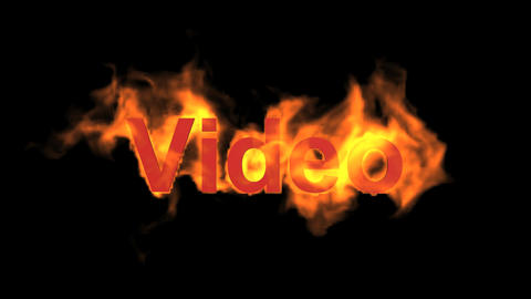 flame video word Animation