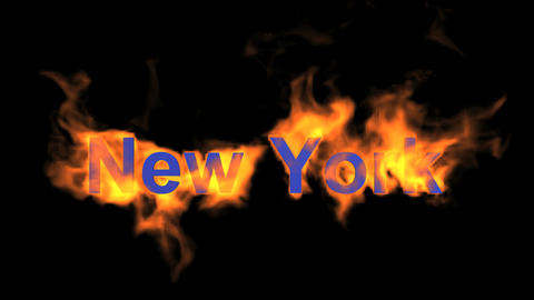 flame New York word Stock Video Footage