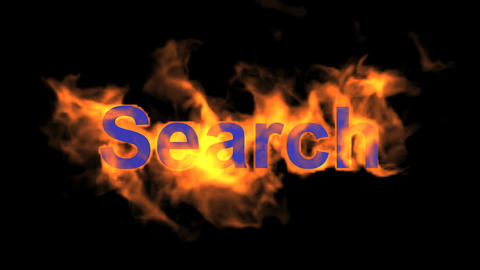 flame search word Stock Video Footage