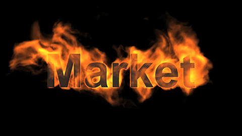 flame market word Animation