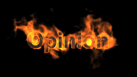 flame opinion word Animation