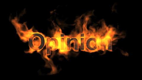 flame opinion word Stock Video Footage